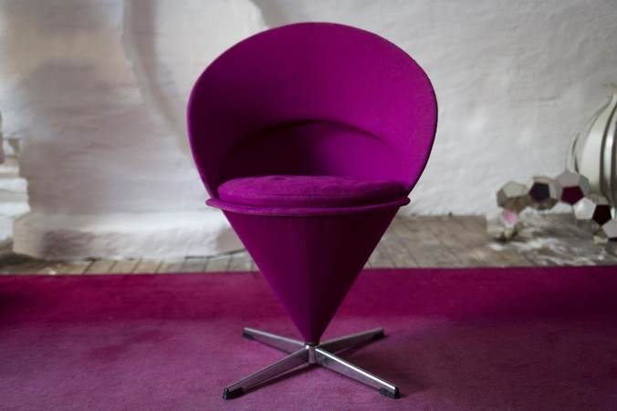 Pink Cone Chair designed by Verner Panton for Vitra