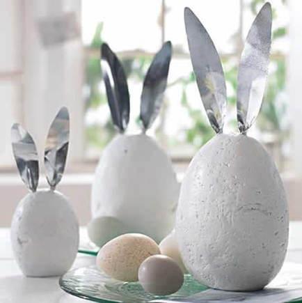 decoração de coelhos de páscoa