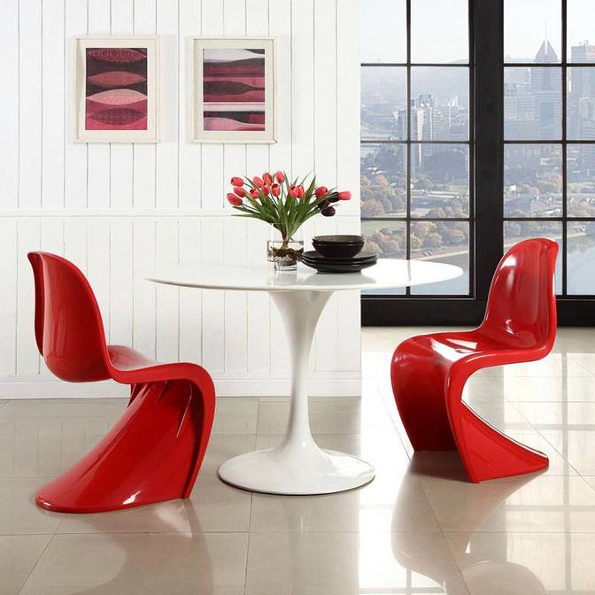 Panton Chair Classic vermelha by Vitra