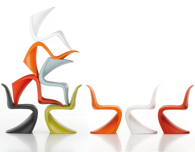 Panton Chair de Verner Panton by Vitra with many colors