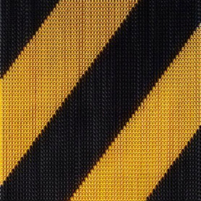 cortina Kriskadecor stripes black and gold
